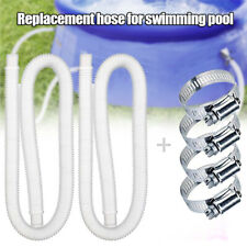 """1/2Pcs Replacement Hose for Above Ground Pools 1.25"""" Diameter Pool Pump 59"""" Long"""