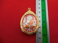 Rare Red Phra LP Tuad Thuad Wat Chang hai Antiques Thai Pendant Buddha Amulets