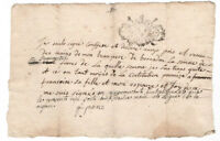 c1700 manuscript receipt document