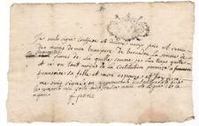 c1700 manuscript receipt document
