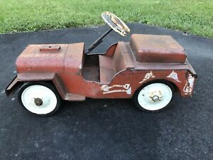Vintage Structo Fire Department Pumper Truck No 26 Ride On Toy Jeep