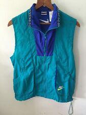 Vintage Nike Windbreaker Jacket Vest Blue Teal Sz S Hip Hop Street Wear - Rare