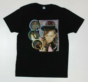 Culture Club Color By Numbers Boy George Retro '80s Black T-Shirt New! (4E1