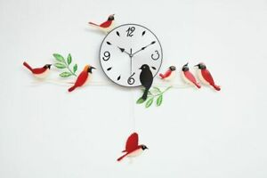 Wall Clocks Birds Craft Times Sweep Home Decoration Quartz Painting Modern Gifts