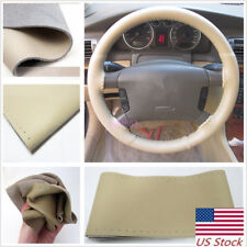 38cm/15'' Auto Steering Wheel Cover DIY Leather Anti-Slip Needle Thread