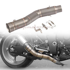 Slip On Exhaust Muffler Pipe Mid Link Connect For Yamaha R1 09 10 11 12 13 14