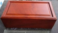 Pet casket for dog or cat,about 22x10x8cm red wood, beautiful, affordable