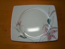 """Mikasa LILY DE JOUR CX025 Set of 3 Rectangular Dinner Plates 12 3/8"""" Pink A"""