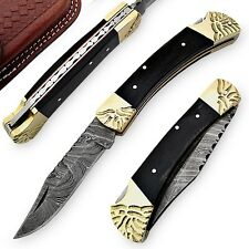 River Bend Handcrafted Damascus Folding Knife