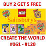 LEGO - CREATE THE WORLD - SELECT THE CARD YOU NEED - CARDS NUMBERS 001 to 060
