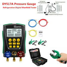 Refrigeration Digital Manifold Gauge Meter Hvac Vacuum Pressure Temp Tester Kpa