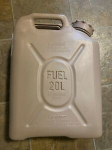 Scepter Tan Sand Military Fuel Can MFC 5 Gallon / 20L MIL-C-53109 Brand New!