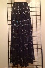 Kerry Damiano Designer Small Palazzo Pants NWT $225 Silver Hologram Sequins