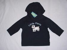 NWT Gymboree Boys PIRATE ADVENTURE Navy Blue Puppy Dog Hoodie Shirt 6-12 M