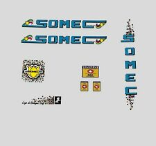 Somec Bicycle Decals, Transfers, Stickers - Blue n.100