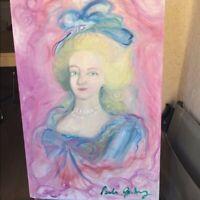 Marie Antoinette Painting France Queen Original Handmade Oil French Pastel