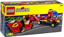 SHELL CAR TRANSPORTER, Lego 1253, Ferrari Formula Racer & Flatbed, New in Box!