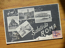 CARTOLINA SALUTI DA ROMA VIAGGIATA 1905 SUBALPINA HH