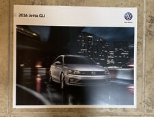 2016 Volkswagen Jetta GLI Sales Brochure