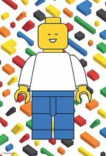 "13""×19"" Inspirational Motivational Poster LEGO BRICK Man Mini Figure Person Boy"