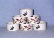 Shafford Chinese Garden 6 Napkin Rings Excellent