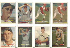 1957 BB CARD LOT- HERZOG, TRIANDOS, MOON, FREEMAN (2), SULLIVAN, AVILA, DELOCK