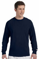 Champion New Tshirt 5.2 oz Men's Long Sleeve Tagless Plain Crew Neck. CC8C