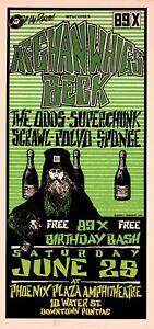 Afghan Whigs Beck HANDBILL Superchunk Sponge 89X Birthday Bash 3 Mark Arminski
