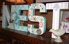 """""""NEST"""" Paper Mache Letters -Hand Made Altered Art Design - for Home,Nursery,Gift"""