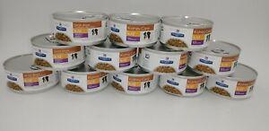 12 Cans 5.5 oz Beef Veg. Stew Hill's Prescription Diet Kidney Care Dog Food