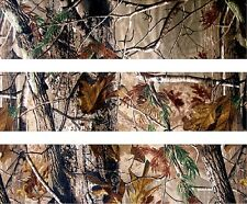 Woodland Camo ~ Edible Cake Image Topper ~ 1/4 Sheet Designer Strips  - D5446