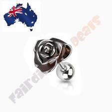 316L Surgical Steel Black Rose Tragus/Cartilage Stud