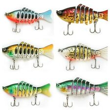 "3D Eyes 7 Segment multi jointed swimbait Fishing Hard Lure 4"" 0.56oz - 6 colors"