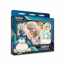 Pokemon Snorlax Pin Collection: New & Sealed TCG Cards Inc Booster Packs & Promo