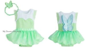 Disney Store baby TINKER BELL fairy Cuddly Bodysuit costume w wings 12 18 mo NWT
