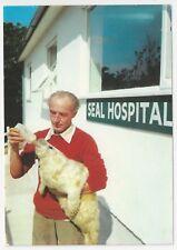 Postcard, Seal Sanctuary, Gweek - Bottle Feeding a Baby Seal at the Hospital