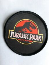 """3"""" Jurassic Park Classic Film Dinosaur Sublimation Iron Or Sew On Patch Badge"""
