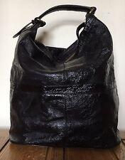 Topshop Black Leather Shopper Shoulder Leather Tassel Bag Large Weekend Designer