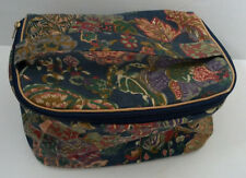 vintage toilertry cosmetic bag travel case cloth flower pattern Trina brand