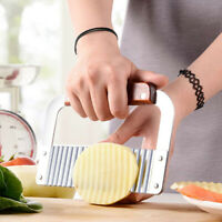 Stainless Steel Potato Chip Salad Vegetable Crinkle Cutter Wavy Cutter Tool