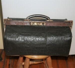 vintage luggage Gladstone bag doctors type bag workmans bag