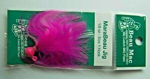 Beau-Macs Marabou Salmon Steelhead Jig Hot Pink 1/8oz Fishing Lure #1 Hook NEW