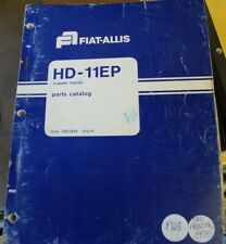 FIAT ALLIS HD 11EP CRAWLER TRACTOR DOZER LOADER Parts Manual book catalog list