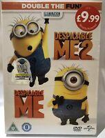 Despicable Me & Despicable Me 2 Double DVD Set New & Sealed