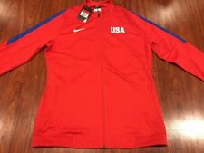 Nike Women's United States Soccer Olympic Jacket Jersey Large L US USA Red