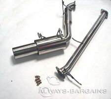 Manzo Stainless Steel Axle Back Exhaust Midpipe Muffler Miata MX5 89 - 93 1.6L