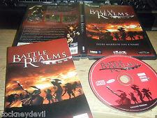 Battle Realms Slick 2001 RTS original avec 92 page Manuel très bon état