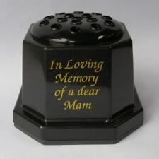 Black Plastic In Loving Memory Of A Dear Mam Grave Memorial Flower Pot Vase