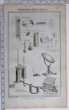 1788 ORIGINAL PRINT WHISPERING PLACE WIND GAGE EUDIOMETER BUFFONS BURNING MIRROR