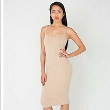 NWT American Apparel Women's Ponte Tank Dress in Moonlight Size LARGE L